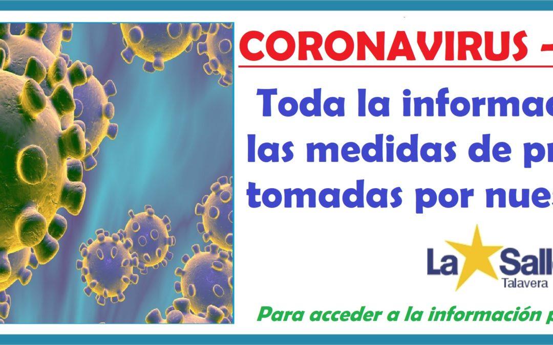 CORONAVIRUS (Covid-19): medidas de protección.